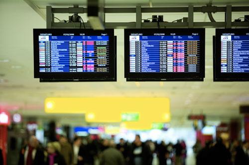 Стрелки переводят, расписание рейсов меняют. Аэропорт Рузине. Фото с официального сайта.  21 октября 2009