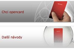 Независимая экспертиза: Система проездных Opencard приносит Праге одни убытки. Фрагмент главной страницы сайта Opencard  24 ноября 2009