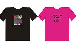 Партия TOP09 продает футболки со слоганом «Мы любим Карела! Девочки».  Футболки с Карелом Шварценбергом.  11 декабря 2009