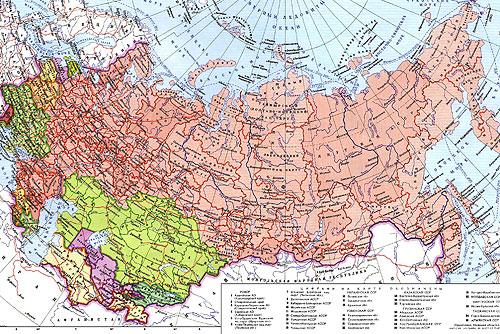 МВД: Каждый 20-й житель Праги приехал из бывшего СССР. Политическая карта СССР  13 декабря 2009 года