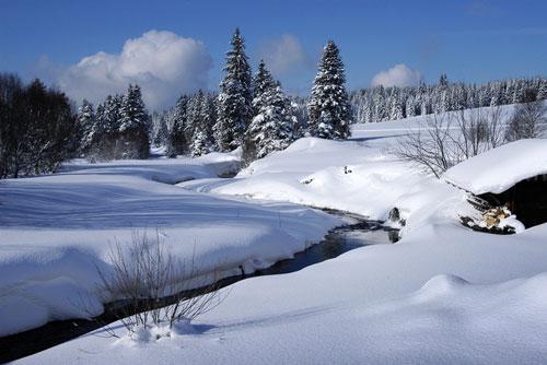Туристов и велосипедистов в Чехии считают с помощью лазеров. Зимой в национальном парке Шумава  Фото: CzechTourism  15 декабря 2009
