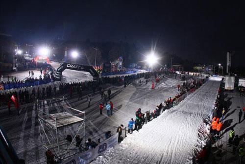 В Праге общественности доступна лыжня, организованная для этапа Tour de Ski. Лыжня на Страгове  Фото: Portál hlavního města Prahy  6 января 2010