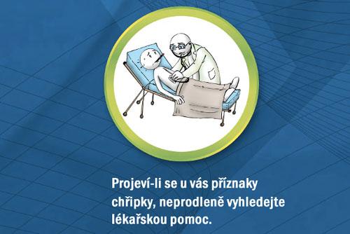 """Главный санитарный врач Чехии слег со свиным гриппом. Фрагмент плаката с сайта Министерства здравоохранения Чехии: """"Обнаружив у себя признаки гриппа, немедленно обратитесь за медицинской помощью""""  2 февраля 2010"""