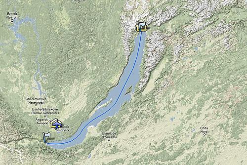 Пиарщик и программист из Чехии перейдут замерзший Байкал вдоль. Маршрут экспедиции Bergans Bajkal 2010 Expedition  12 февраля 2010