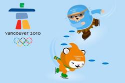 Олимпиада-2010: Россия открыла счет золоту и серебру, чехи обыграли словаков. Символика Олимпийских игр - 2010 в Ванкувере. © VANOC/COVAN  18 февраля 2010