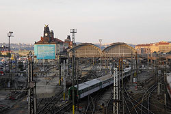 Транспортная забастовка в Чехии отложена как минимум до 4 марта. Главный железнодорожный вокзал в Праге  Фото: Александра Кириченко  26 февраля 2010