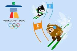 Олимпиада-2010: Чехия и Россия доверят свои знамена конькобежцам. Символика Олимпийских игр - 2010 в Ванкувере. © VANOC/COVAN  28 февраля 2010