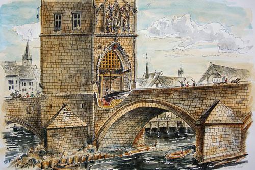 Древний ров на Карловом мосту начали замуровывать.   5 марта 2010