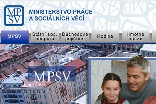 Иностранным работникам в Чехии серьезно осложнят жизнь. Скриншот сайта Министерства труда и социальных вопросов  10 марта 2010