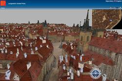 По Праге начала XIX века теперь можно погулять прямо в Сети. Фрагмент трехмерной модели старой Праги. Скриншот с сайта praha.eu  14 марта 2010