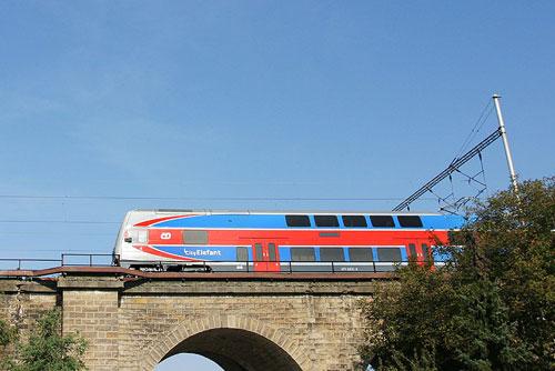 Чешские железные дороги объявили рекордный тендер на поставку новых составов. Новый поезд Чешских железных дорог City Elephant. Фото с официального сайта компании cd.cz  18 марта 2010