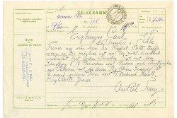Чешская почта окончательно распрощается с телеграммами.  Бланк исторической телеграммы эрцгерцога Франца Фердинанда.  30 марта 2010