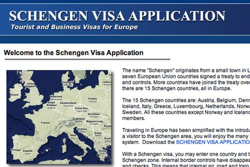 Шенгенские визы c 5 апреля 2010 года выдают по новым правилам. Вступил в силу новый кодекс стран Шенгенского соглашения. Скриншот сайта eurovisa.info  5 апреля 2010
