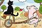 Чешские цыгане обиделись на говорящего кота. Кот Микеш. Иллюстрация из книги Йозефа Лады  15 апреля 2010