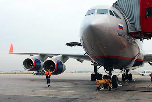 """Авиасообщение между Прагой и Москвой восстановлено. Фото с официального сайта авиакомпании """"Аэрофлот""""  19 апреля 2010"""