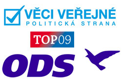 Чешские партии ODS, TOP09 и VV договорились о коалиции в парламенте.  Соглашение о создании правоцентристской коалиции в парламенте Чехии подписано.  2 июня 2010