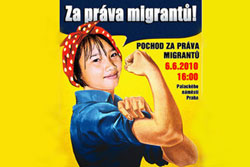 В столице Чехии состоится марш в защиту прав мигрантов. Фрагмент плаката с сайта zapravamigrantu.cz  3 июня 2010