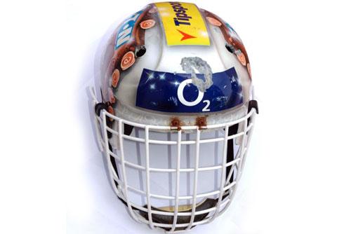 Шлем хоккейного голкипера Доминика Гашека выставили на интернет-аукцион. Шлем Доминика Гашека. Изображение с сайта aukro.cz  16 июня 2010