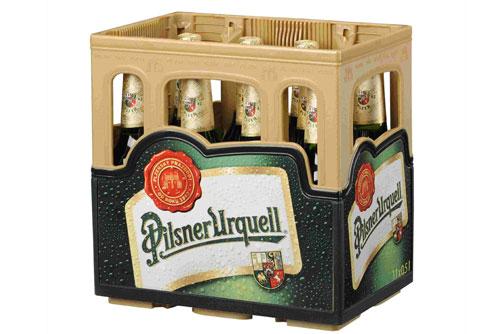 Плзеньское пиво начали упаковывать в «половинчатые» ящики. Новая упаковка для пива Pilsner Urquell. Фото пресс-службы Plzeňský Prazdroj  6 сентября 2010 года