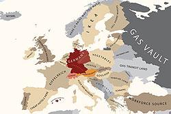 """Чехия попала на """"карту стереотипов"""" как страна Праги, пива, антиевропейцев и просто """"szex republic"""". Европа глазами Германии. Изображение из блога alphadesigner.com  22 сентября 2010"""