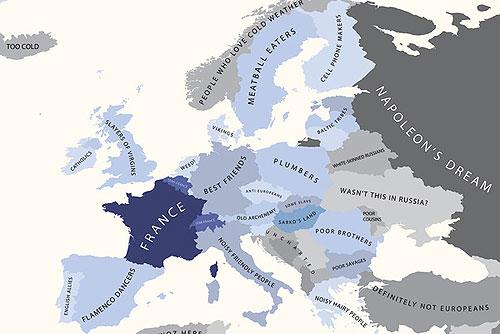 Европа глазами Франции. Изображение из блога alphadesigner.com
