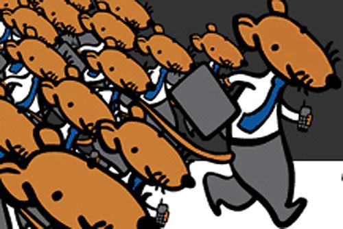 """Прага приглашает на традиционный забег канцелярских крыс - клерков и чиновников. В Праге пройдет """"Забег канцелярских крыс"""". Изображение с сайта акции  5 октября 2010 года"""