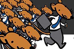 """Прага приглашает на традиционный забег канцелярских крыс - клерков и чиновников. В Праге пройдет """"Забег канцелярских крыс"""". Изображение с сайта акции  5 октября 2010"""