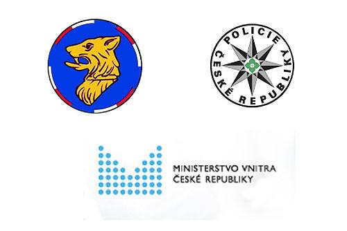 Чешское МВД решило судьбу полиции по делам иностранцев. Логотипы полиции по делам иностранцев, полиции Чешской Республики и Министерства внутренних дел Чехии  5 октября 2010 года