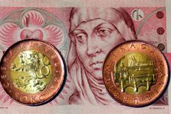 Чехия выводит из обращения банкноту в 50 крон. Монеты в 50 крон вытеснят купюры  Фото: коллаж Utro.cz  8 октября 2010