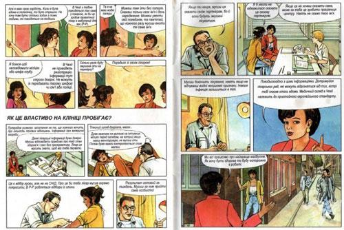 В Чехии выпустили обучающие комиксы для украинских жриц любви. Фрагмент страницы чешской инструкции для украинских жриц любви  9 ноября 2010