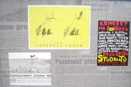 К патриотам себя отнесли три четверти чехов, страной горды 70%. Плакаты времен Бархатной революции 1989 года  Фото: Александра Кириченко  18 ноября 2010