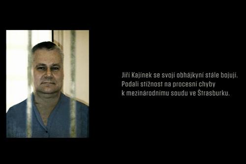 К делу Кайинека вернутся 10 января 2011 года. Йиржи Кайинек за решеткой. Кадр из фильма Kajínek  25 ноября 2010