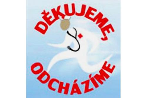 Почти 10% чешских врачей в понедельник уволятся в знак протеста. Эмблема акции «Спасибо, мы уходим» (Děkujeme, odcházíme)  29 ноября 2010