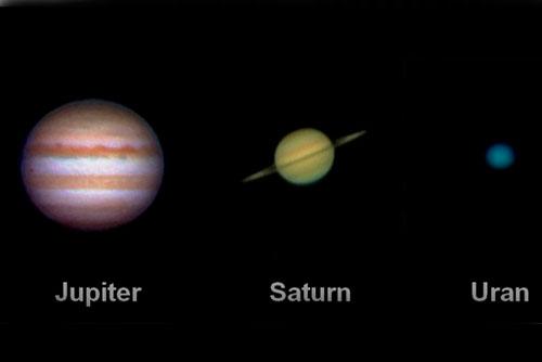 """Чешский Астрономический институт и Чешское астрономическое общество назвали """"астрофотографа-2010"""". Солнечная система. Фрагмент снимка """"астрофотографа года"""" Лудека Хамра  19 января 2011"""