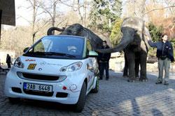 Пражский зоопарк вслед за службой скорой помощи получил электромобиль Smart. Пражский зоопарк получил электромобиль Smart. Фото пресс-службы мэрии Праги  10 февраля 2011