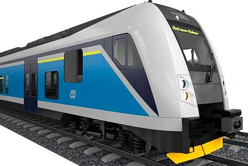 По железным дорогам Чехии будет ездить новая модель поездов. Модель нового поезда Чешских железных дорог. Изображение пресс-службы České dráhy  16 февраля 2011 года