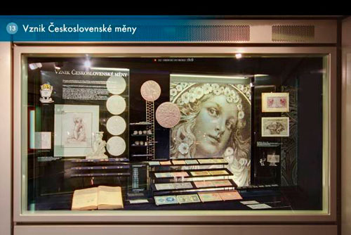 Выставку Чешского национального банка можно посетить в Интернете. Стенд, посвященный возникновению валюты Чехословакии. Изображение с сайта Чешского национального банка cnb.cz  21 февраля 2011 года