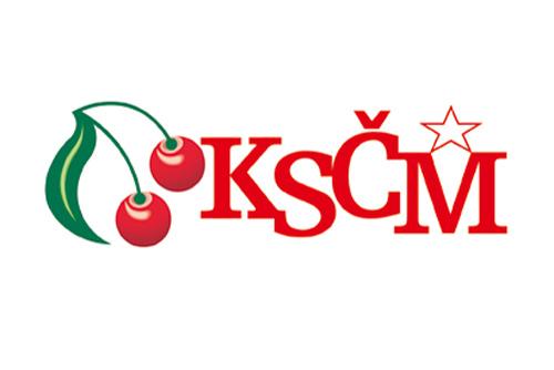 40% чехов - против запрета коммунистической партии. Логотип Коммунистической партии Чехии и Моравии  26 февраля 2011