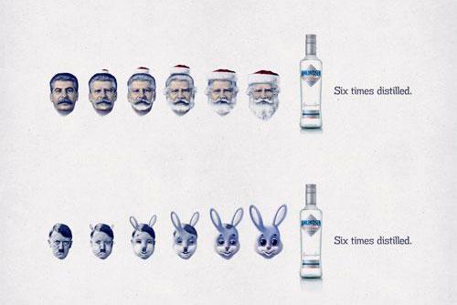 В рекламе чешской водки «снялись» Гитлер со Сталиным. Реклама чешской водки Amundsen с использованием образов Сталина и Гитлера  14 апреля 2011
