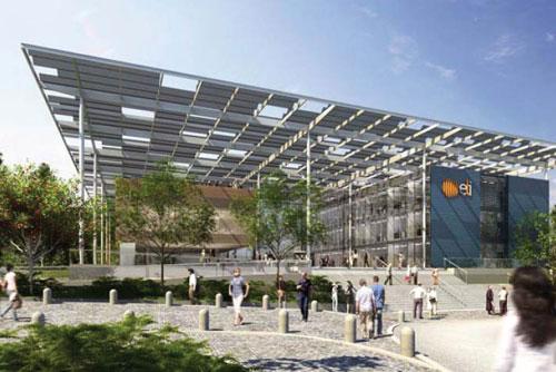 В окрестностях Праги построят научный центр с суперлазером. Так будет выглядеть научный центр с суперлазером под Прагой. Изображение с сайта extreme-light-infrastructure.eu  20 апреля 2011