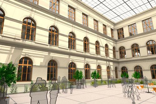 Ровно через месяц Национальный музей в Праге закроется на ремонт. Так будут выглядеть интерьеры Национального музея после реконструкции. Изображение с сайта nm.cz  7 июня 2011