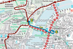 Пражский общественный транспорт повышает цену на проезд и выкупает устаревшие билеты.  В Праге в связи с ремонтом полотна ограничено движение трамваев. Изображение с сайта dpp.cz.  1 июля 2011