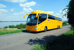 Желтые автобусы Student Agency  будут возить российских туристов из аэропорта Брно.  Автобус компании Student Agency. Изображение с сайта studentagency.cz.  16 августа 2011