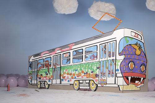 Пражские школьники придумывают дизайн для трамвая. Пражские школьники придумают дизайн для трамвая. Изображение пресс-службы мэрии Праги  12 сентября 2011