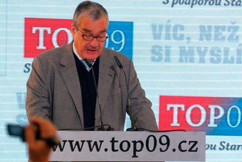 Лидер TOP09 Карел Шварценберг объявил о планах баллотироваться в президенты. Каред Шварценберг. Фото пресс-службы TOP09  24 октября 2011