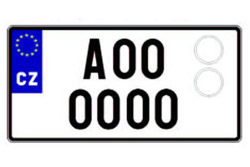 """Московский """"коллеционер"""" оставил иностранных автолюбителей без номеров.  Чешский автомобильный номер.  14 марта 2012"""