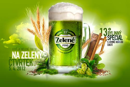В Чехии к Пасхе сварили зеленое пиво с таинственным ингредиентом. В Брно сварили к Пасхе зеленое пиво. Изображение с сайта www.zelenepivo.cz  21 марта 2012