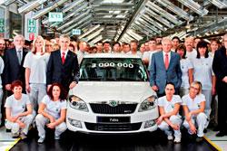 С конвейера в Млада-Болеславе сошла трехмиллионная Škoda Fabia. Юбилейная Škoda Fabia. Фото пресс-службы Škoda Auto  10 мая 2012