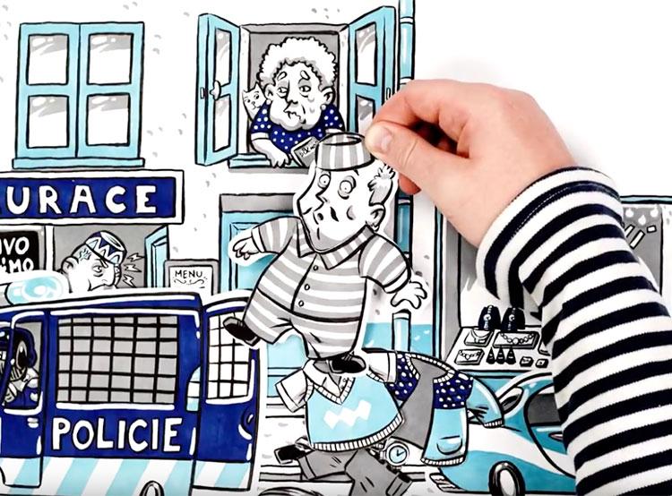 Чешское МВД открыло в Праге магазин с конфискованной электроникой. Конфискация имущества. Кадр из видео МВД Чехии  9 ноября 2018 года