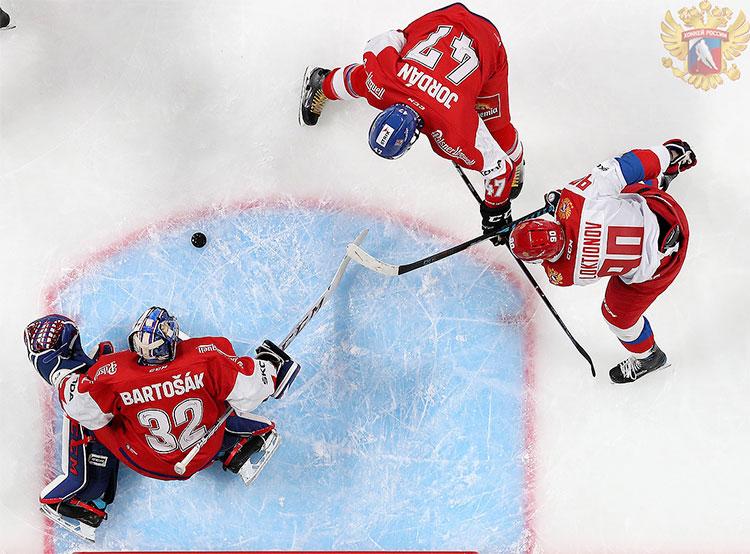 Чешские хоккеисты обыграли россиян под занавес Кубка Карьяла. Фото с сайта Федерации хоккея России (fhr.ru)  11 ноября 2018 года